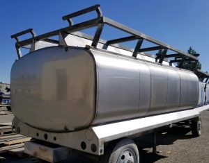 Stainless Tank back view